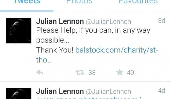 Jullian Lennon tweets about Balstock 2015 !!!!