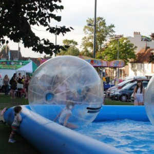 BALSTOCK 2013 - Zorbing on the High Street